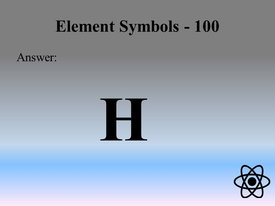 Atomic jeopardy review element symbols atomic particles atomic 4 element symbols 100 answer h urtaz Image collections