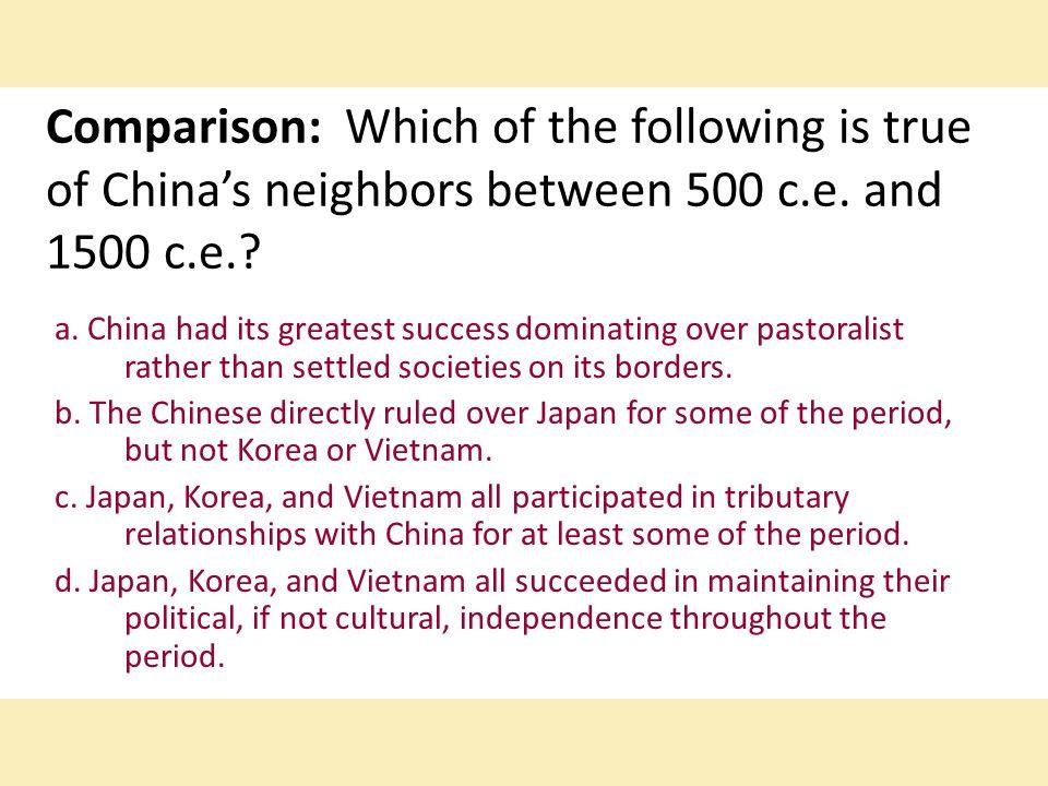 Political organization in China 500-1500 CE?