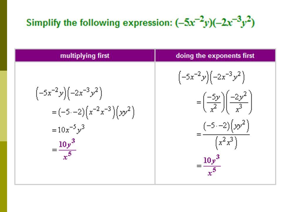 Simplify No negative exponents Binomial Radical Expressions I – Radical Operations Worksheet