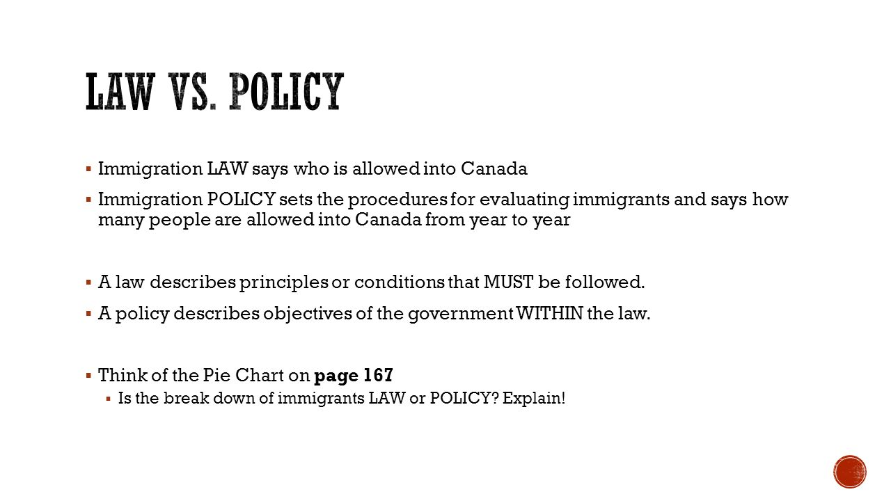 How well do canadas immigration laws and policies respond to immigration law says who is allowed into canada immigration policy sets the procedures for nvjuhfo Image collections