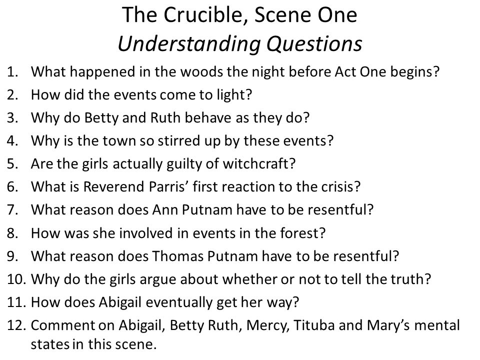 what impact did the crucible have on the audience Reverend john hale is the idealistic witch hunter in 'the crucible' explore the character and how he grew during the course of arthur miller's famous play.