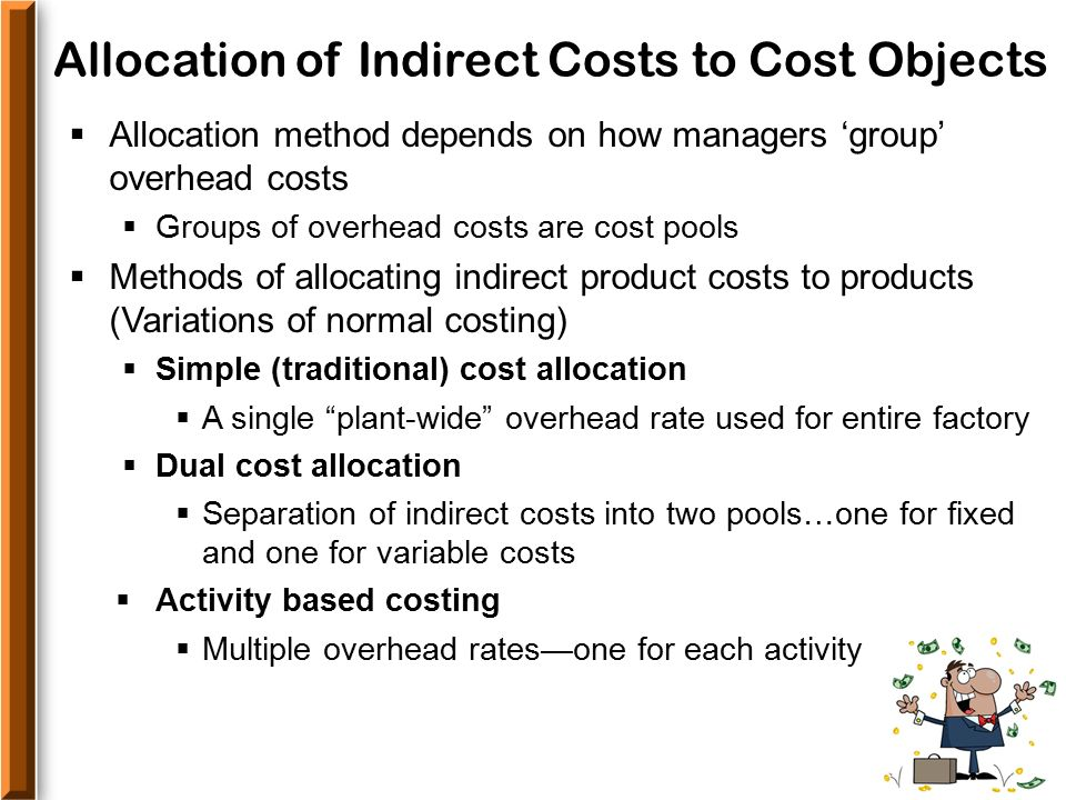 indirect costs Tracking costs is an essential part of the budgeting process categorizing expenses can affect cash flow and have an impact on federal tax payments.