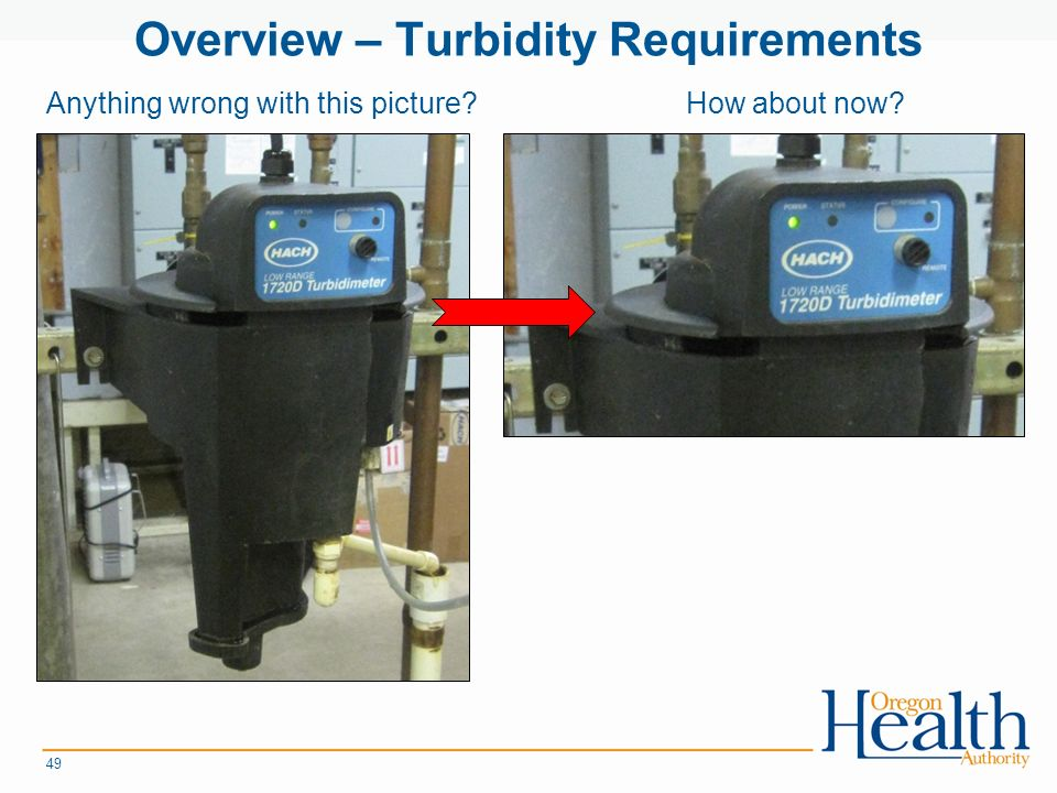 Overview – Turbidity Requirements 49 Anything wrong with this picture How about now