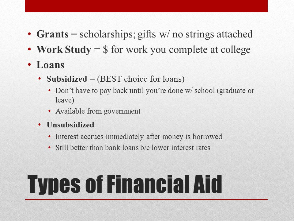 On the Financial Aid Application, what does this mean?
