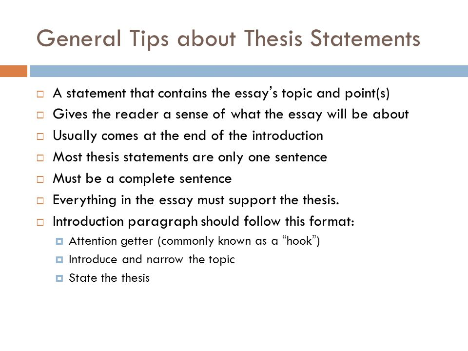 can you start a thesis statement with because