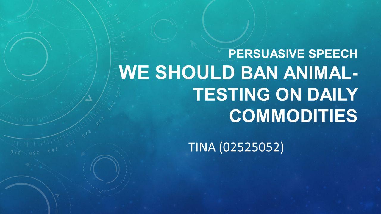 speech animal testing essay