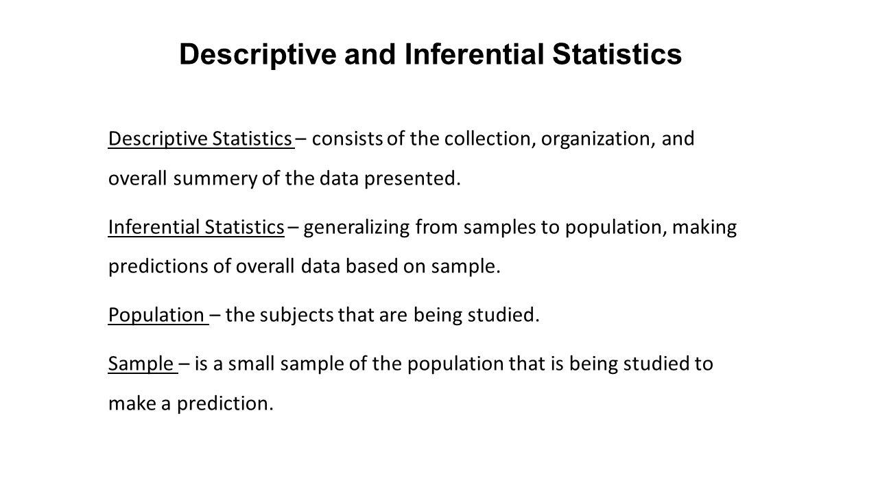 Descriptive And Inferential Statistics Worksheet Images - worksheet ...