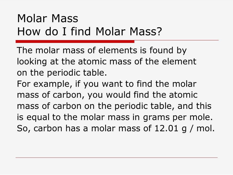 Molar mass chemistry 11 ms mcgrath molar mass molar mass m is 5 molar urtaz Choice Image