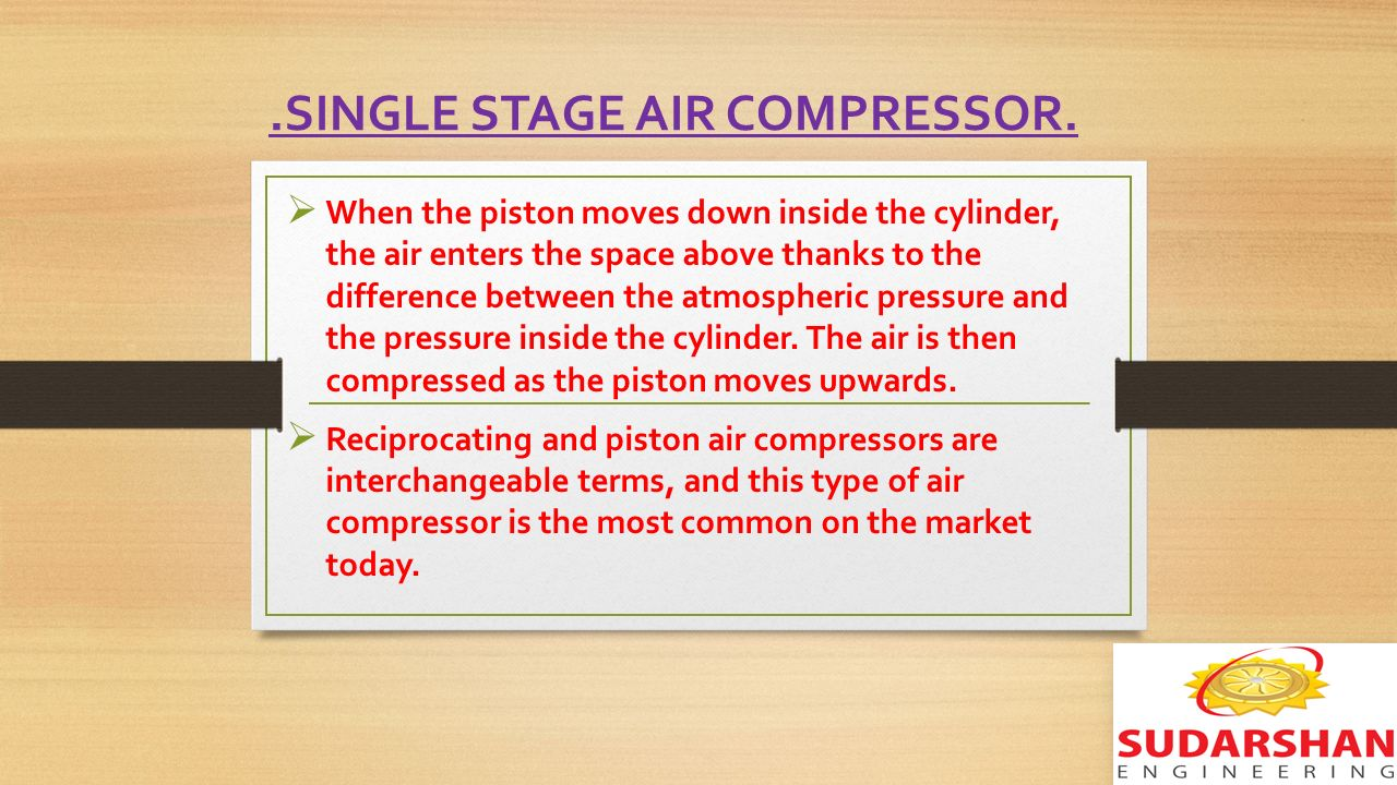 Multi stage heating and cooling - Single Stage Air Compressor