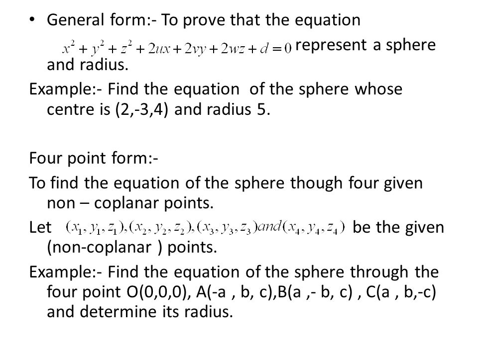 Equation For Radius Of A Sphere - Jennarocca