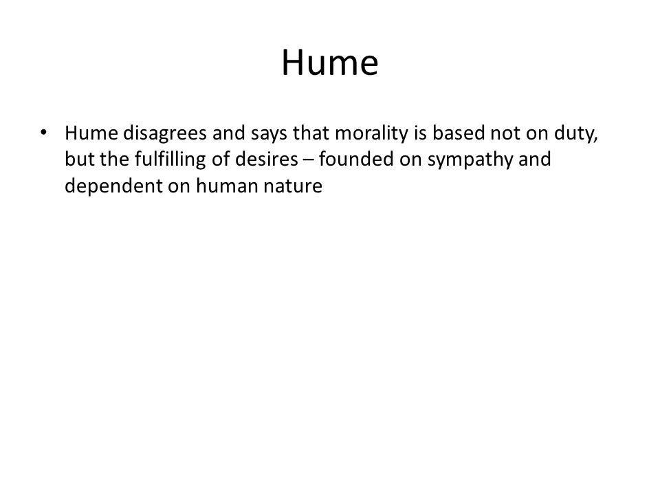 hume vs kant essay