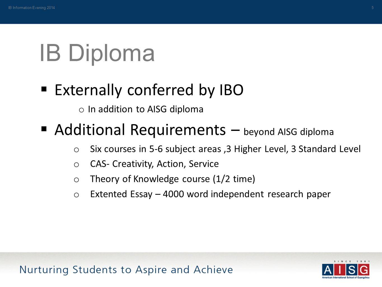 the international baccalaureate ib at aisg ib information  5 ib information evening 20145 ib diploma