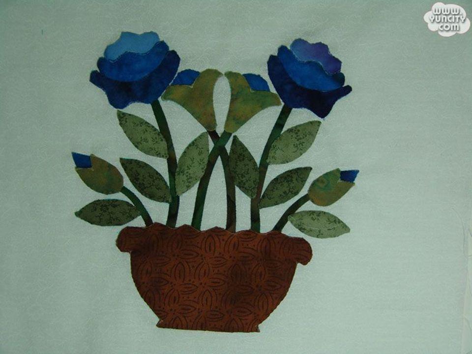 制成桌面摆件 装饰服装 ……       布贴画 —— 图案设计 花瓶 果篮
