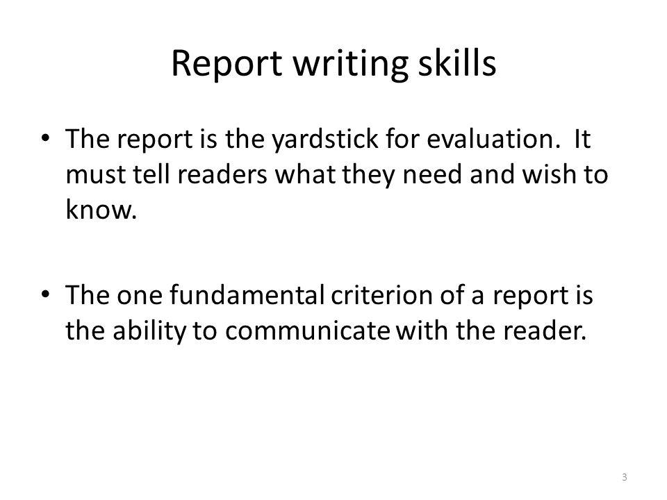 report writing skills example
