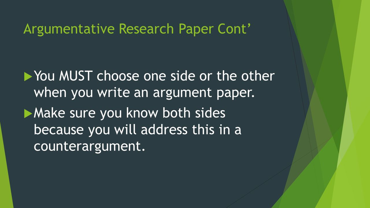 subjects for argumentative research paper Research paper topics by rio hondo community college (ca) research topic ideas by university of michigan, flint other guides to topics proconorg debatebase by.