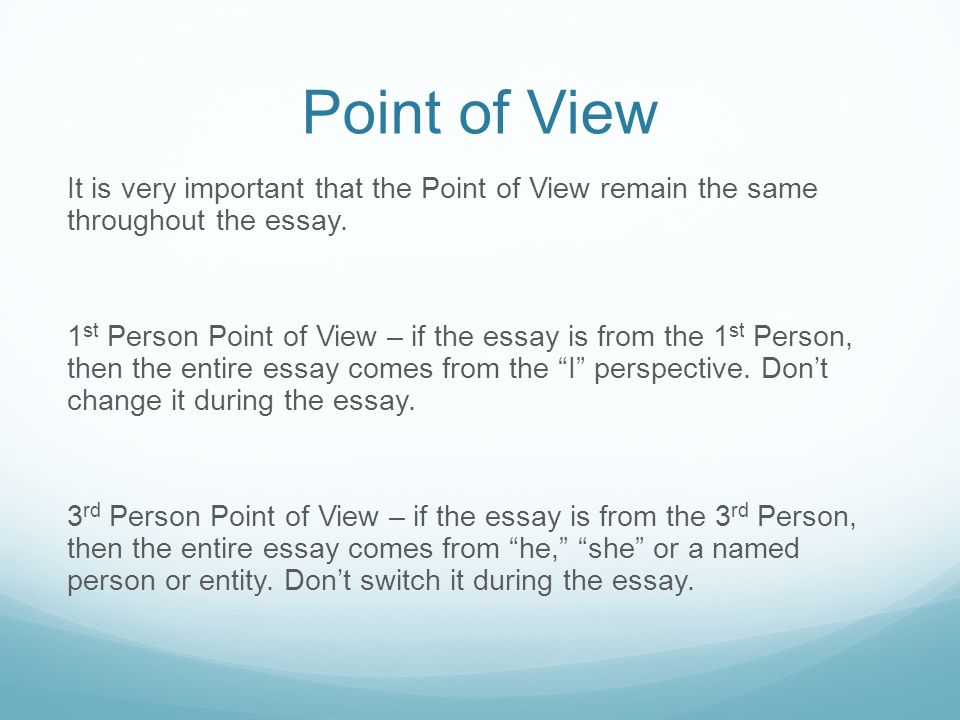 point of view narrative essay Site Navigation