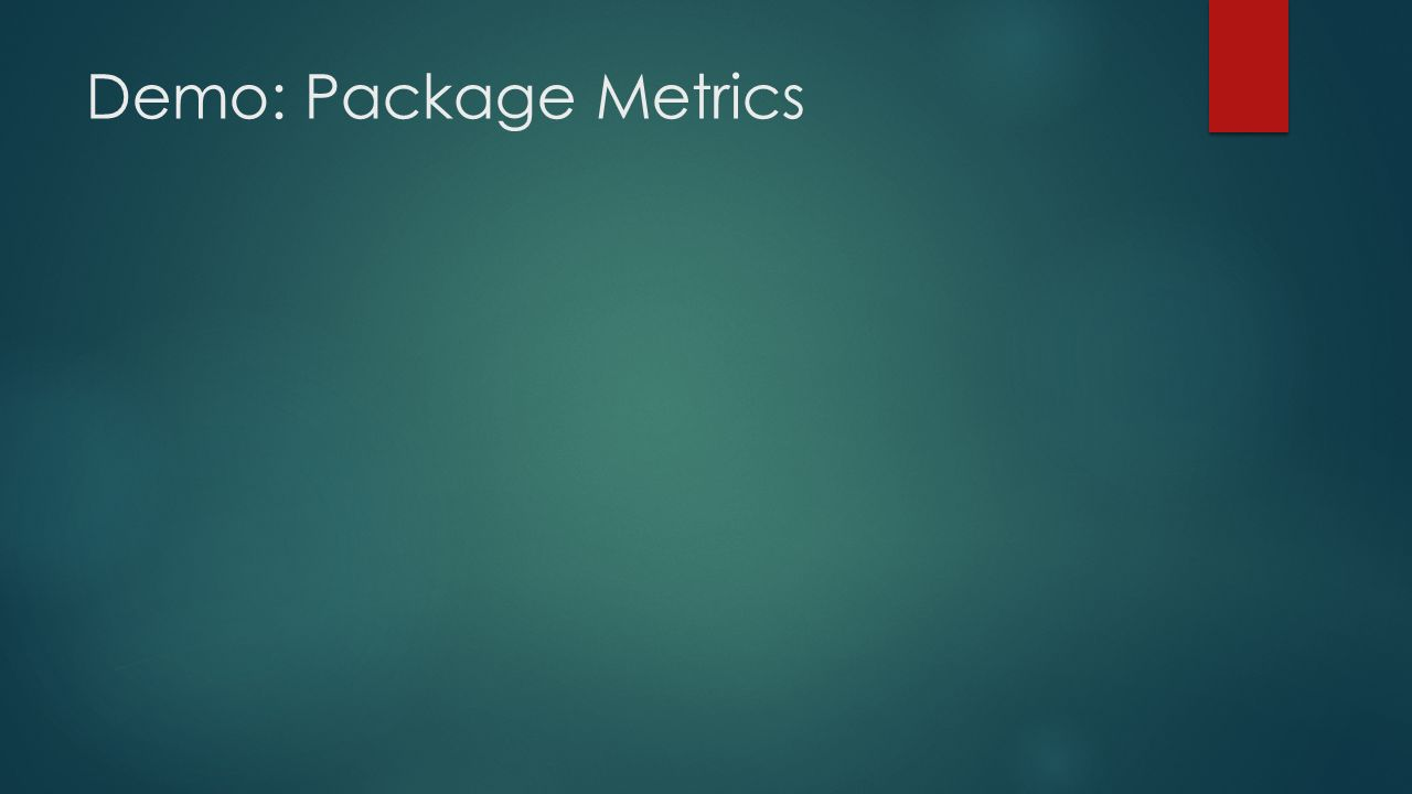 Demo: Package Metrics