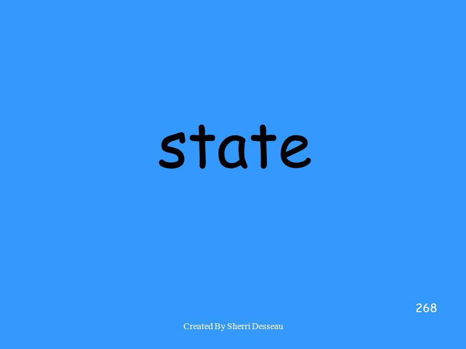 Created By Sherri Desseau state 268