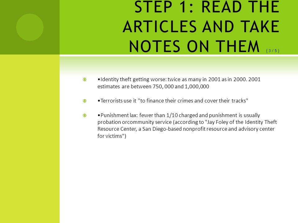 identity theft thesis statement These are only some of the thesis statement for law essay on identity theft choose what you want and start writing you need to ensure that it will serve as the main.