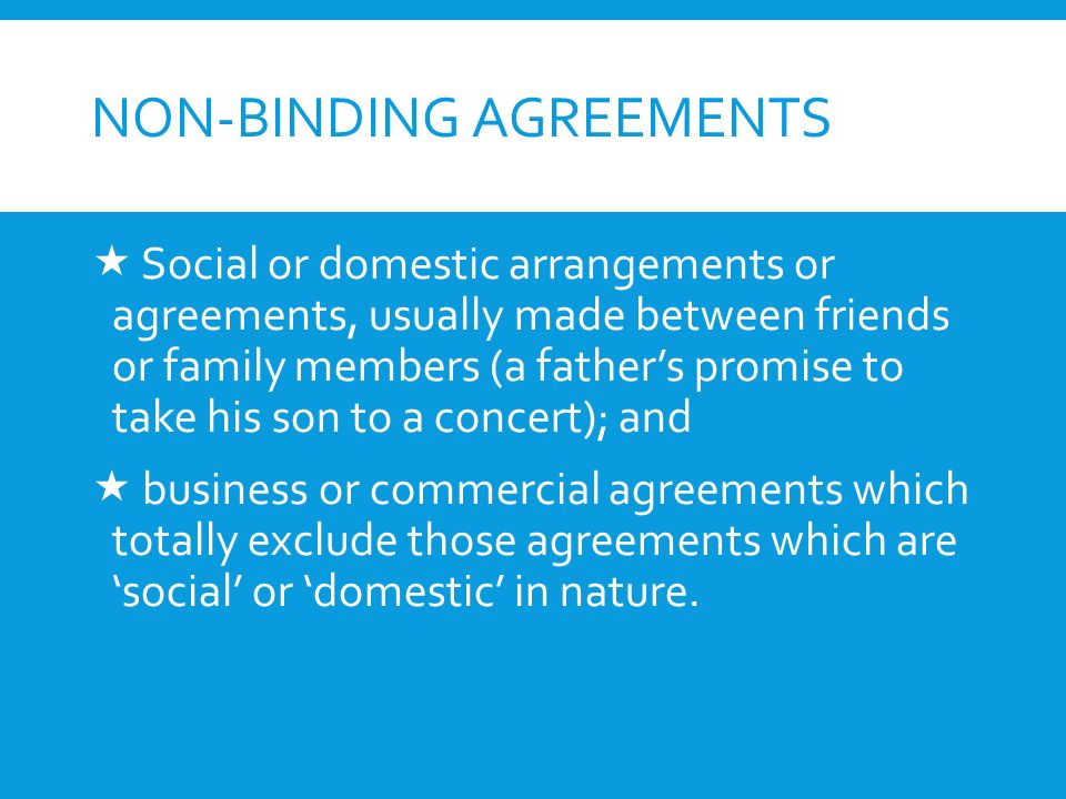 Contract And Other Agreements  Social Arrangements And Business