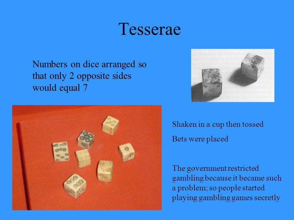 tesserae meaning in hindi