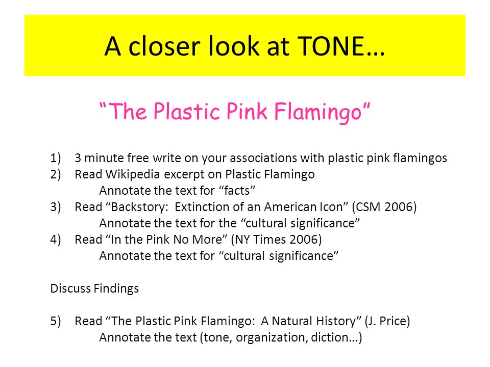 pink flamingos essay In her recent essay the plastic pink flamingo, jennifer price explains that flamingos have always been animals that have attracted attention, similar to the flamingos, price believes america is a country that wishes to capture the spot light in the world.