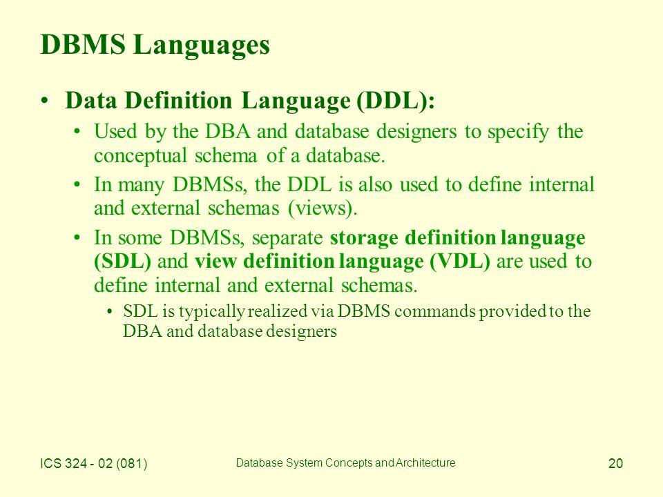 20 Dbms Languages