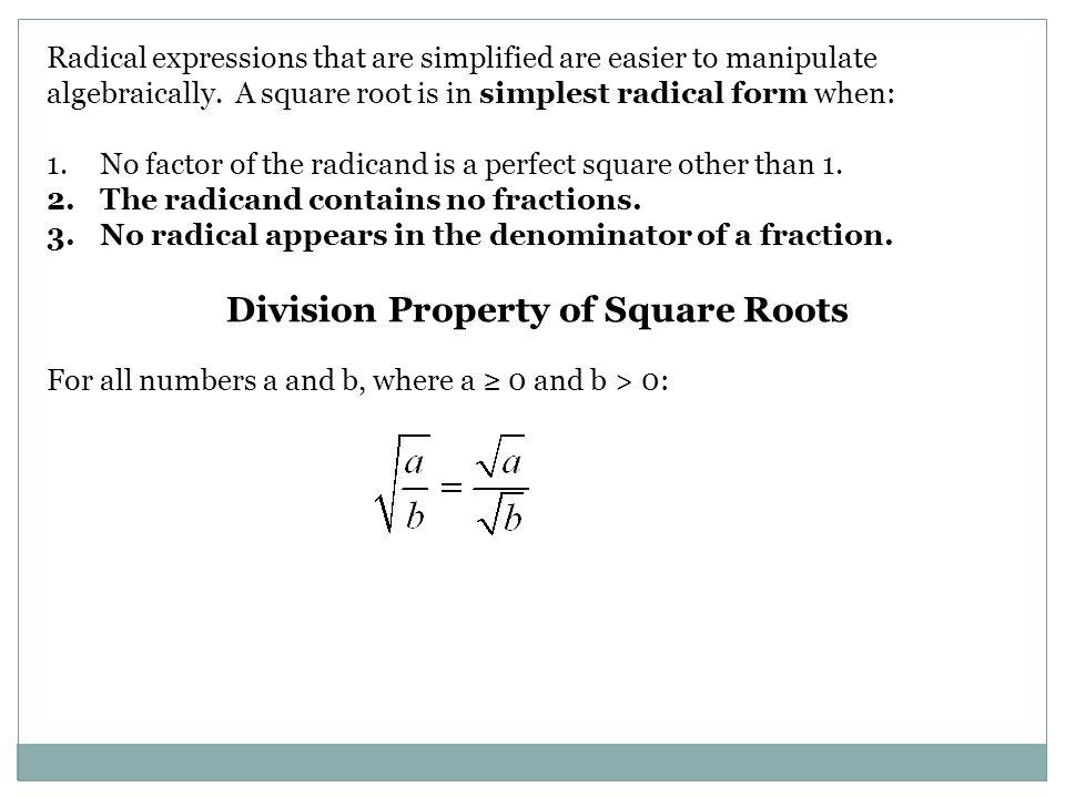 LESSON 12.1 OBJECTIVE: IDENTIFY OR ESTIMATE SQUARE ROOTS, DEFINE ...
