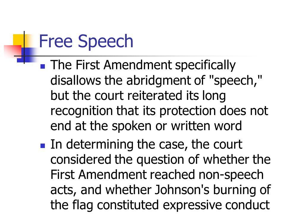 flag burning freedom of speech essay