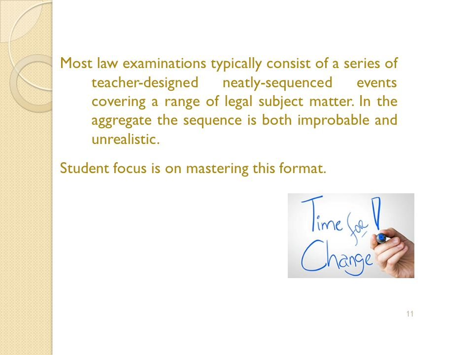 Student focus is on mastering this format.