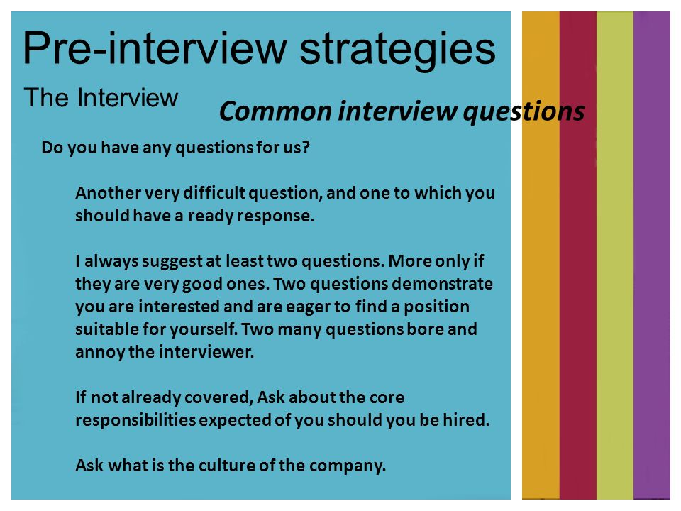 pre interview strategies the interview do you have any questions for us - Is There Any Questions You Would Like To Ask Us Interview Question