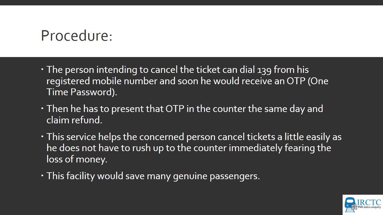 train ticket status