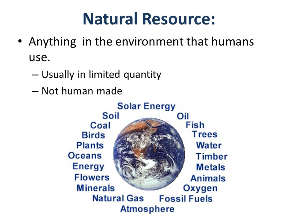 """What you think of when you hear """"natural resources."""" Definition ..."""