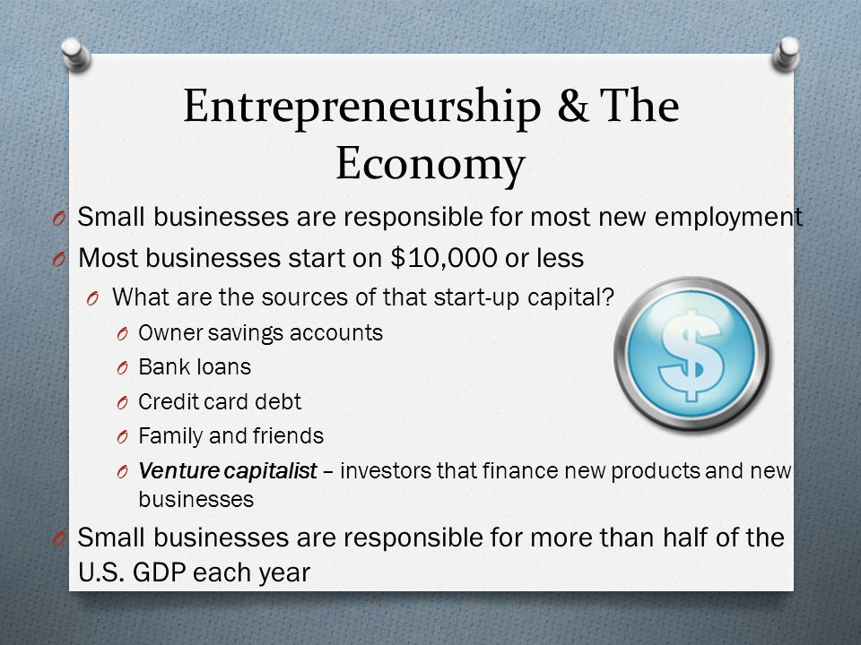 Becoming an Entrepreneur O An entrepreneur is someone who takes a ...