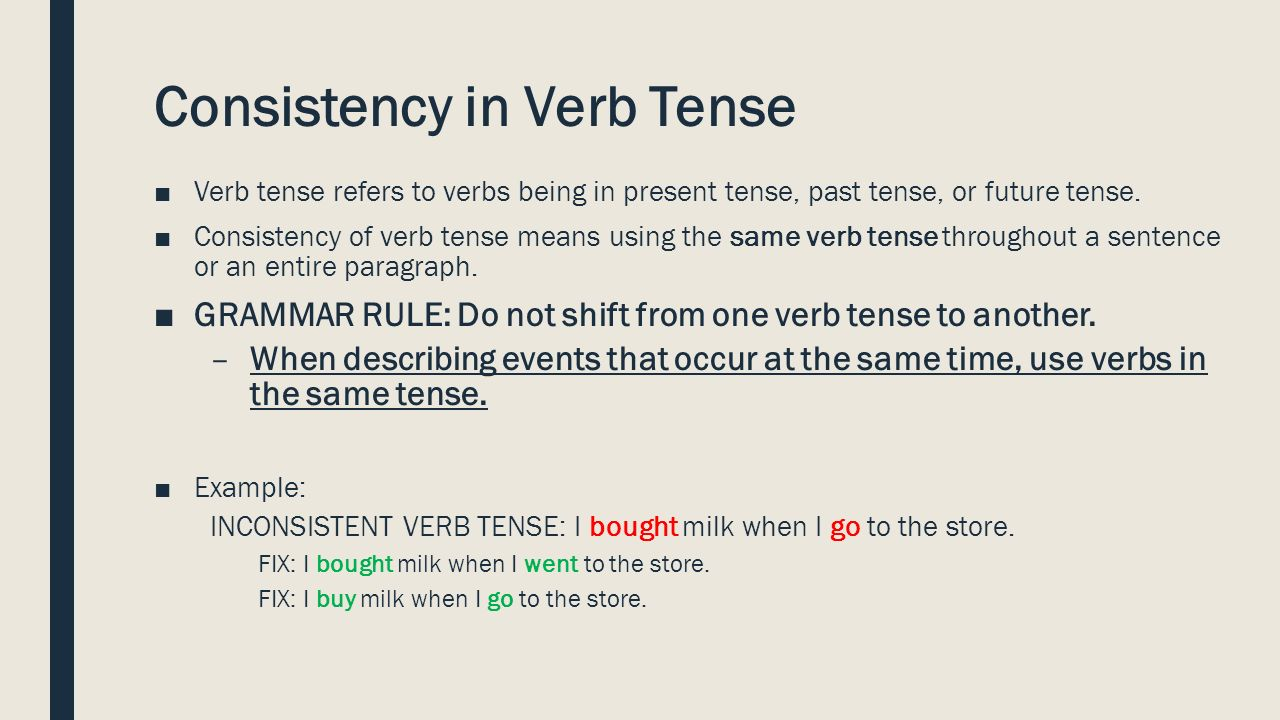 FOLLOW THESE DIRECTIONS 1You will need your writing folder today – Verb Tense Consistency Worksheet
