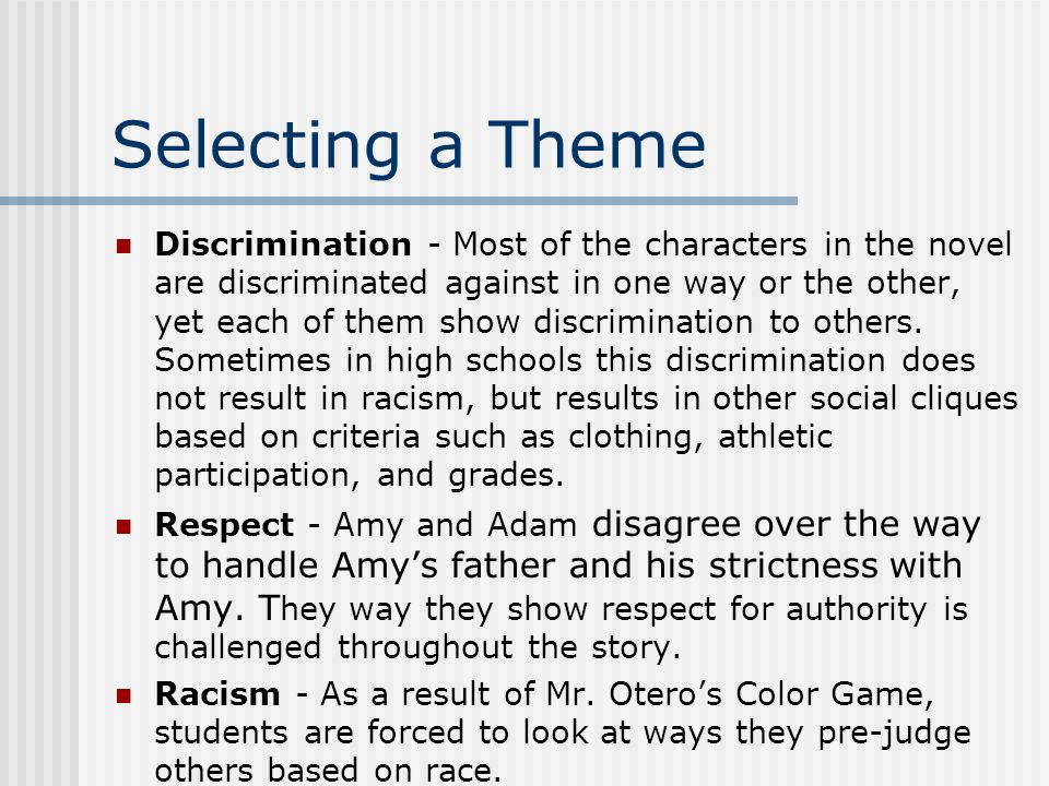 thesis statements racial discrimination