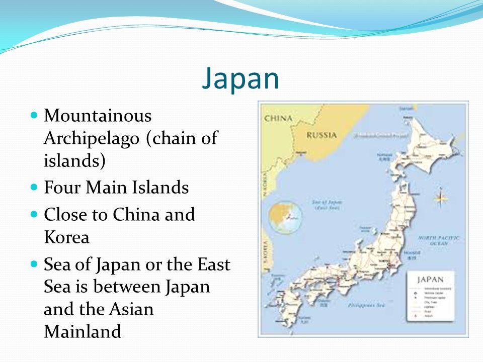 Regional Interactions Japan Mountainous Archipelago Chain Of - Japan map four main islands