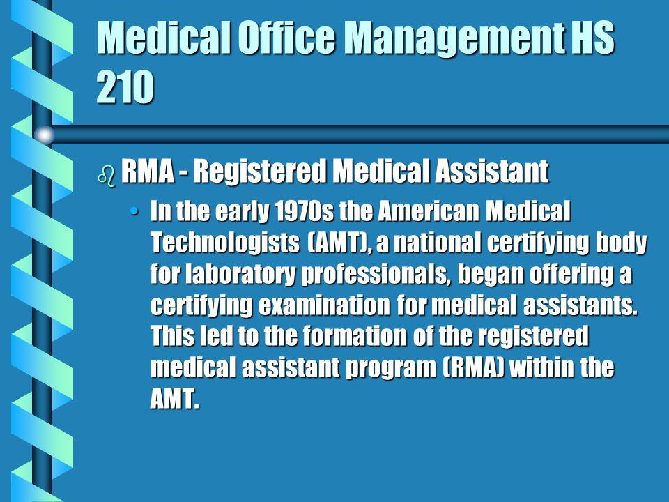 Enchanting Amt Registered Medical Assistant Illustration - Best ...