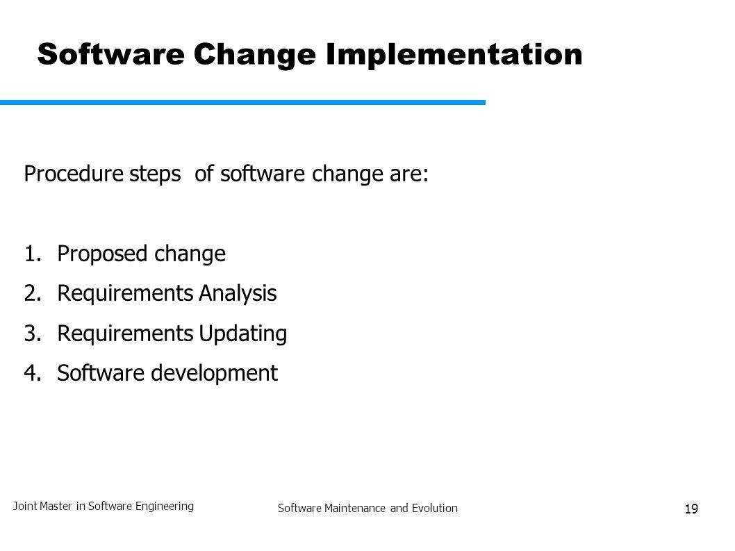 Software Maintenance and Evolution JMSE-SM&E Unit 1