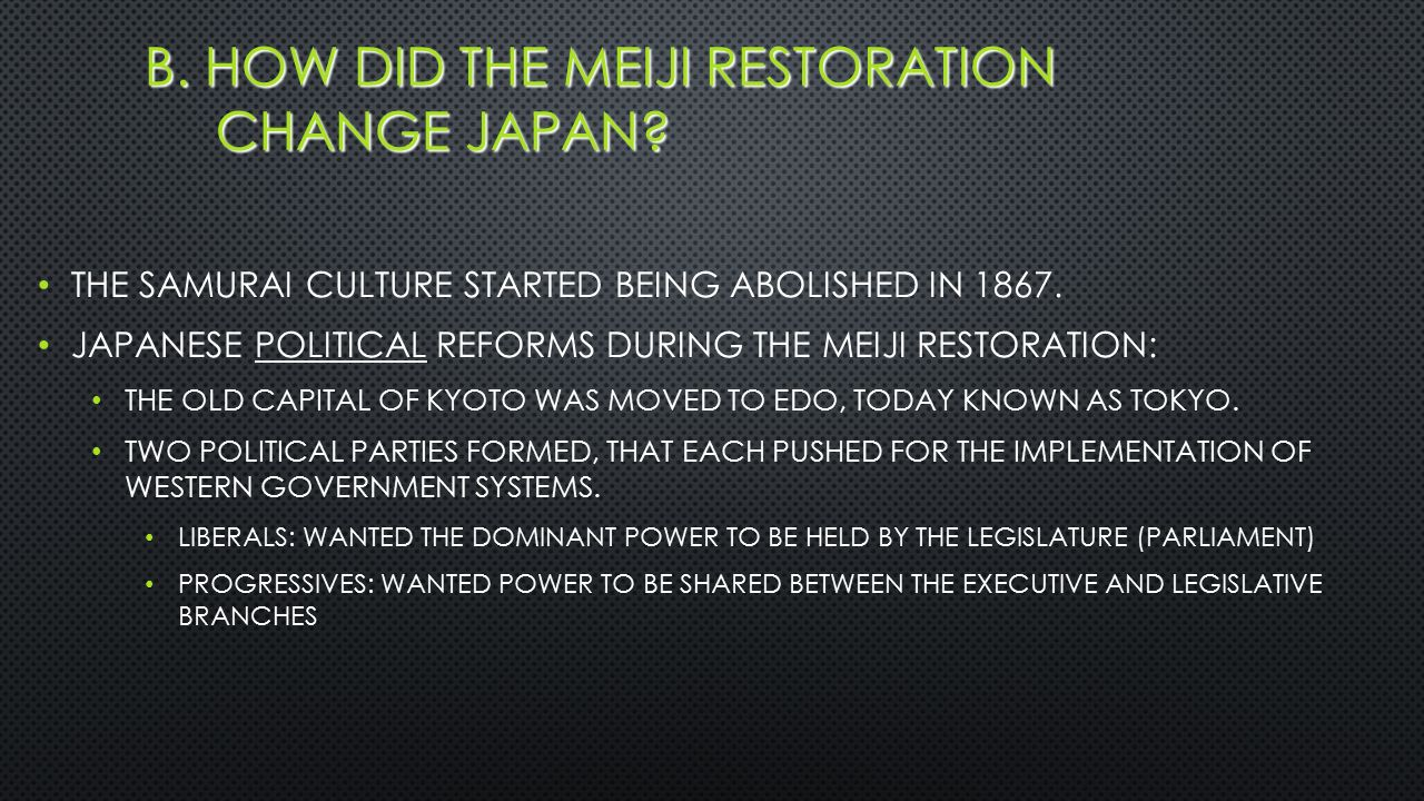 an analysis of the meiji restoration in japan