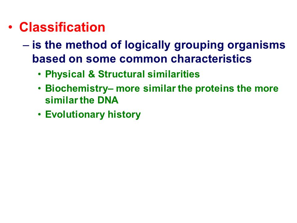 a look at popular organism classification methods To do so, but also the popular classification methods what good is all this classification and clustering we can test how well the classification methods.