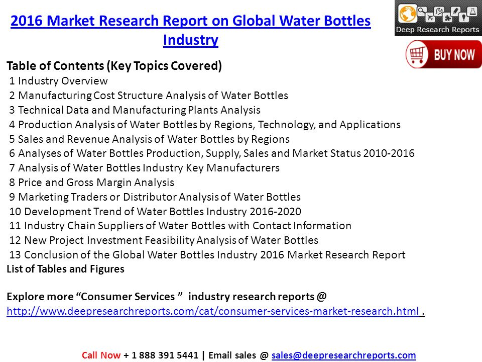 Market Research on Global Water Bottles Industry Trends Survey and ...