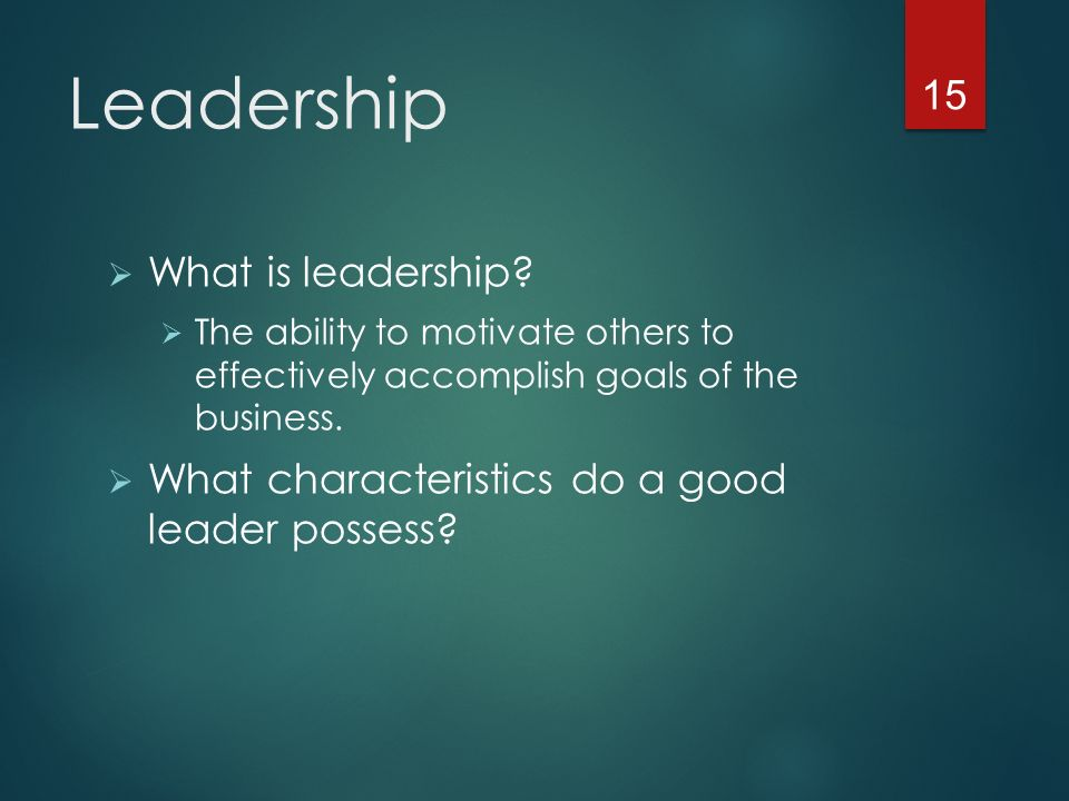 Leadership  What is leadership.
