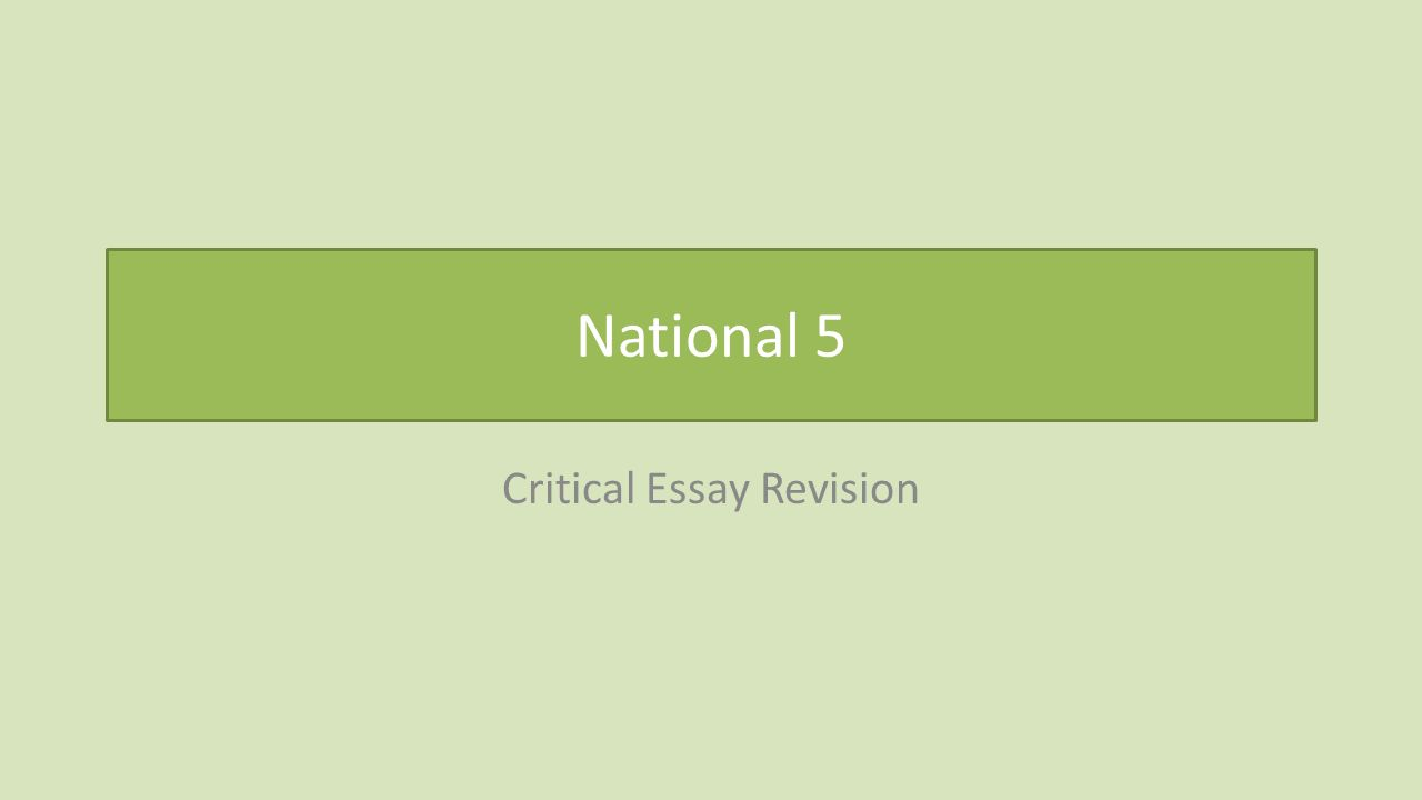 national critical essay revision review understanding the 1 national 5 critical essay revision