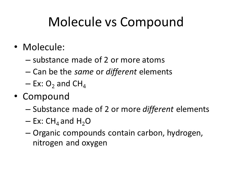 Compounds and Chemical Formulas. ELEMENTS - Review a pure ...