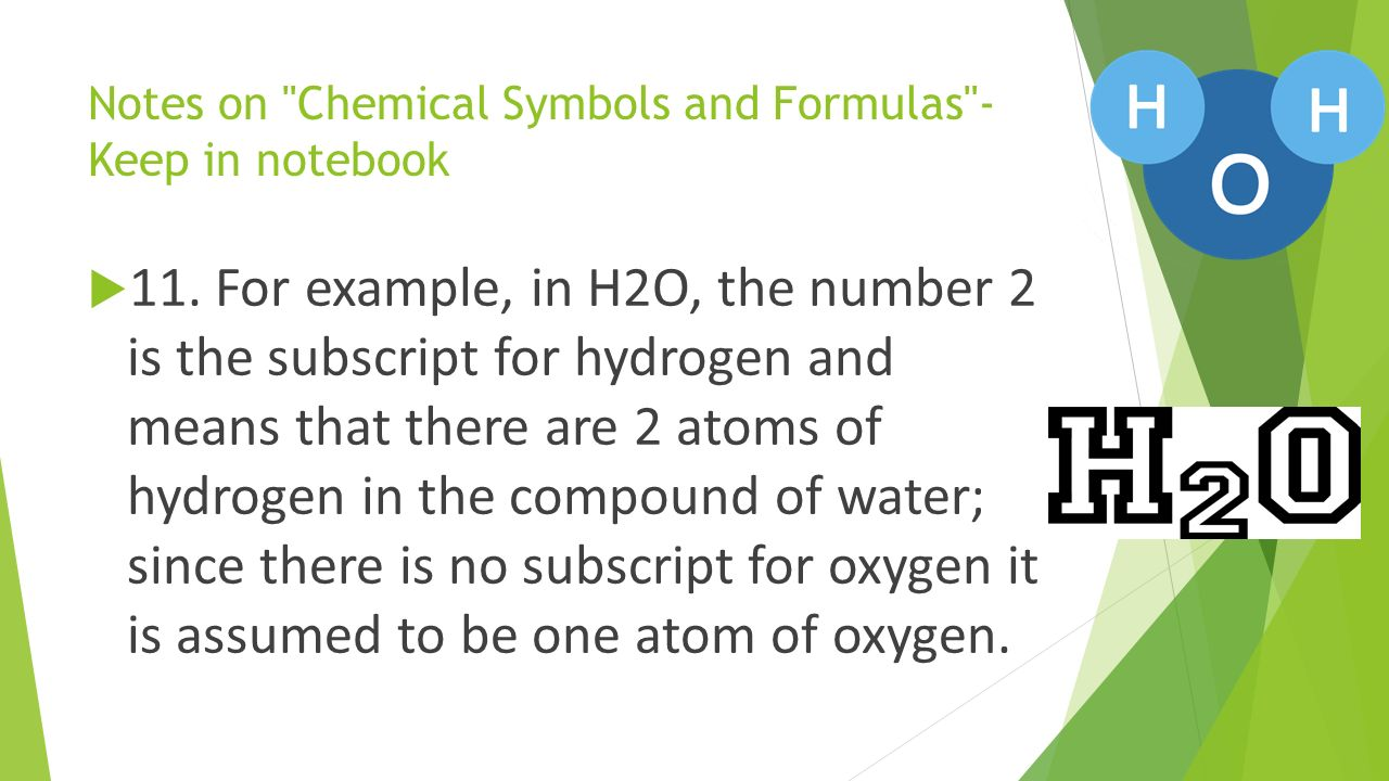 Science daily tasks week of through ppt download notes on chemical symbols and formulas keep in notebook 11 biocorpaavc