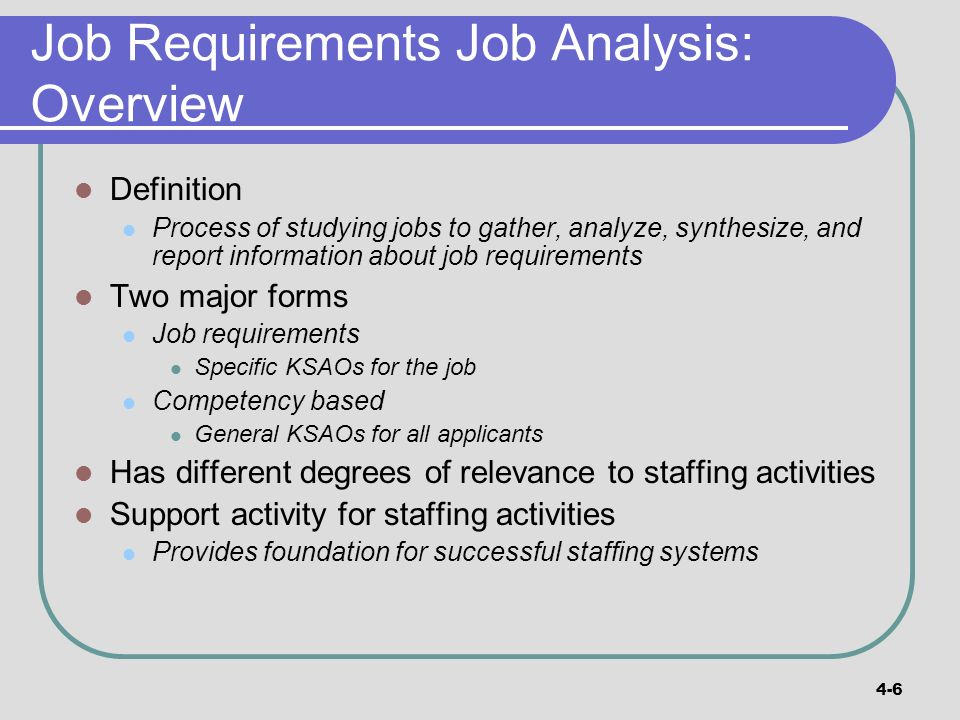 Part 2 Support Activities Chapter 04: Job Analysis And Rewards
