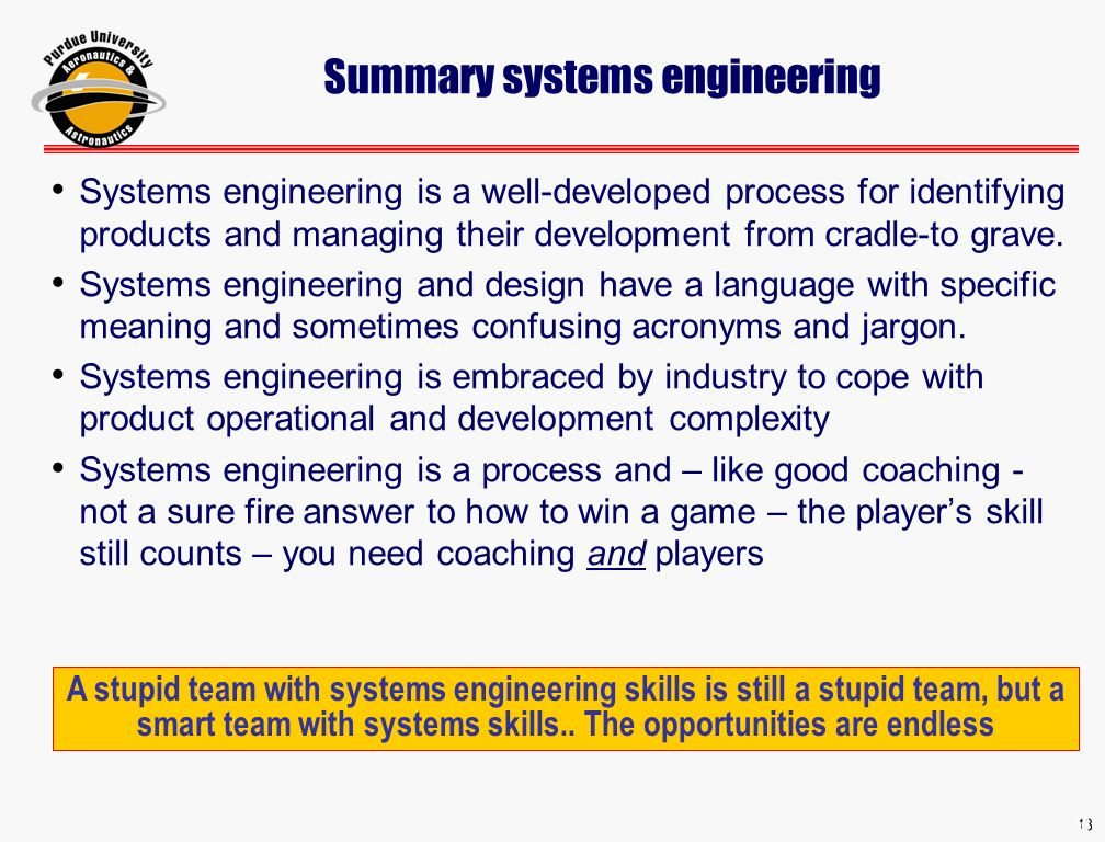 1 1 systems engineering basics aae 490b week 1 lecture 2 aae 18 summary systems engineering systems engineering is a well developed process for identifying products and fandeluxe Choice Image