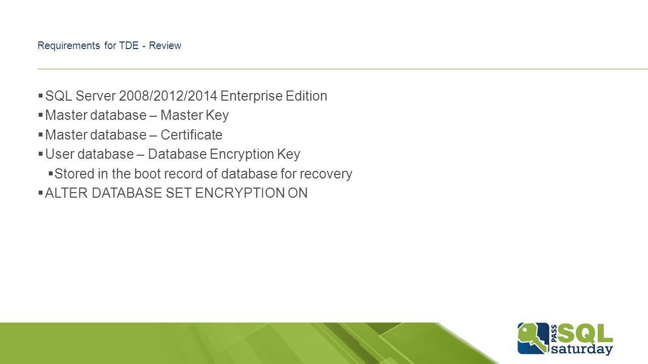 Sql server encryption ben miller blog ppt download 9 requirements 1betcityfo Image collections