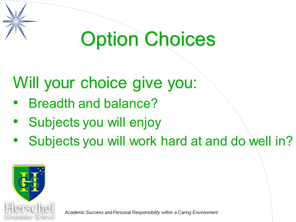 Need help with option choices !?